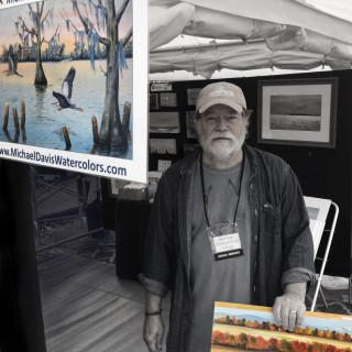 We were setup next to a great watercolor artist at the Blue Ridge Mountian Arts. www.MichaelDavisWatercolor.com